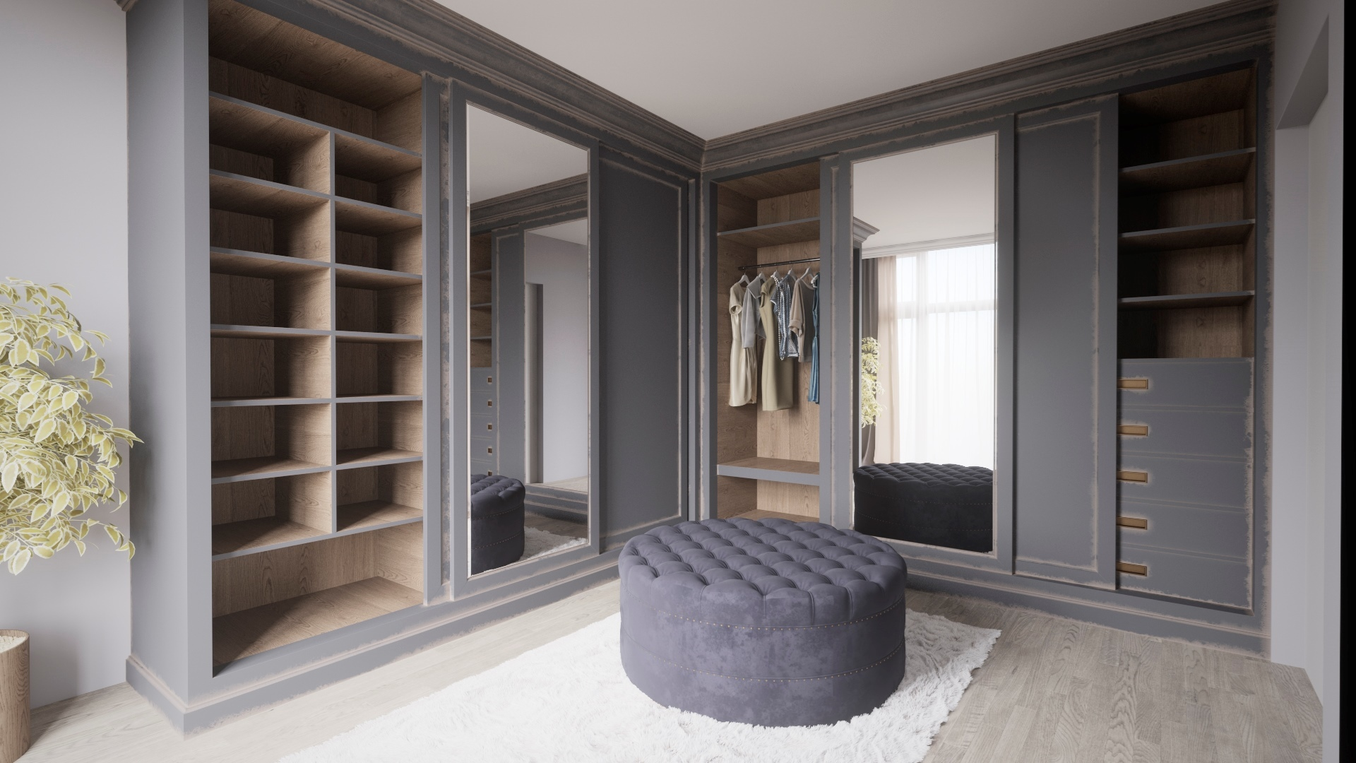 гардеробные комнаты дизайн проекты фото 5